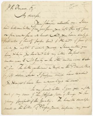 AUTOGRAPH LETTER, SIGNED, FROM PHILADELPHIA PUBLISHER MATHEW CAREY TO WASHINGTON, D.C. EDITOR AND...