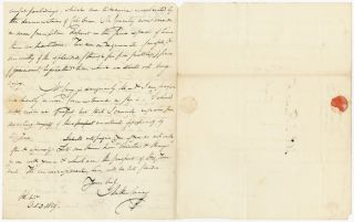 [AUTOGRAPH LETTER, SIGNED, FROM PHILADELPHIA PUBLISHER MATHEW CAREY TO WASHINGTON, D.C. EDITOR AND ATTORNEY PHILIP R. FENDALL, JR., REGARDING FINANCIAL ACCOUNTS, AND CAREY'S VIEWS ON THE STATE OF THE NATION].