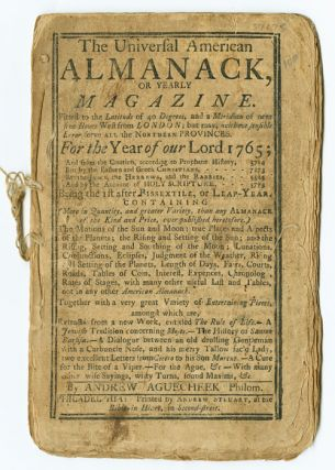 THE UNIVERSAL AMERICAN ALMANACK, OR , YEARLY ASTRONOMICAL, HISTORICAL, AND GEOGRAPHICAL...