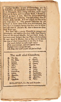 PENSILVANIA, 1742. AN ALMANACK, OR EPHEMERIS....