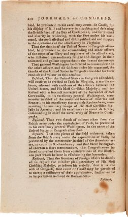 [COMPLETE SET OF THE JOURNALS OF CONGRESS CONTAINING FIRST PRINTINGS OF THE PROCEEDINGS FROM SEPTEMBER 1774 TO NOVEMBER 1788].