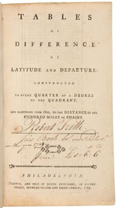 TABLES OF DIFFERENCE OF LATITUDE AND DEPARTURE: CONSTRUCTED TO EVERY QUARTER OF A DEGREE OF THE...