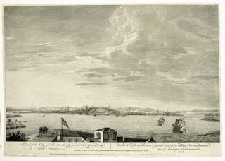 A VIEW OF THE CITY OF BOSTON CAPITAL OF NEW ENGLAND, IN NORTH AMERICA. VUE DE LA VILLE DE BOSTON,...