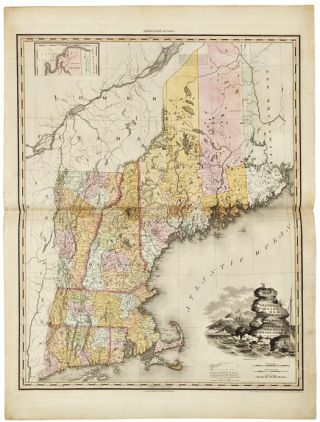 A NEW AMERICAN ATLAS CONTAINING MAPS OF THE SEVERAL STATES OF THE NORTH AMERICAN UNION, PROJECTED...