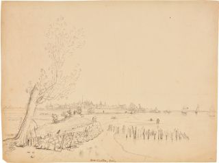 ORIGINAL INK DRAWING OF NEW CASTLE, DELAWARE, BY UNITED STATES NAVY LIEUTENANT JOHN B. DALE]....
