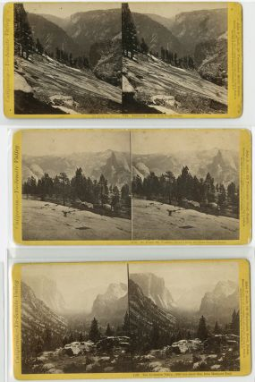 GROUP OF TWELVE STEREO CARDS OF YOSEMITE AND THE CALIFORNIA BIG TREES]. Yosemite, Martin Mason...