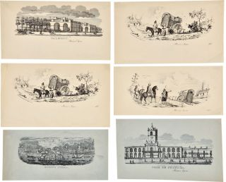 GROUP OF SIX LITHOGRAPHIC VIGNETTES OF SCENES IN AND AROUND BUENOS AIRES]. Argentina