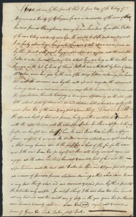 VIRGINIA LAND DEED]. Isaac Cox