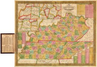 MAP OF THE STATES OF KENTUCKY AND TENNESSEE. S. Augustus Mitchell