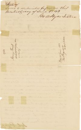 [MANUSCRIPT DOCUMENT SIGNED BY JOHN P. SARPY, TESTIFYING TO THE DISPERSAL OF THE ESTATE OF HENRY FRAEB AND THE DIFFICULTY OF COLLECTING MONEY FROM FAMED MOUNTAIN MAN JIM BRIDGER].