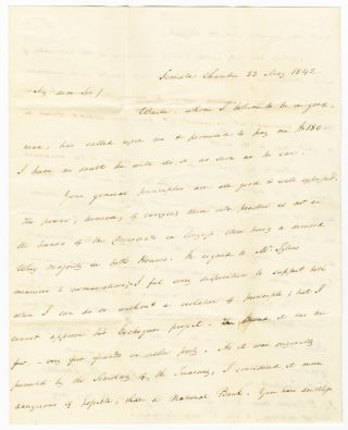 AUTOGRAPH LETTER, SIGNED, FROM JAMES BUCHANAN TO JAMES A. CALDWELL]. James Buchanan