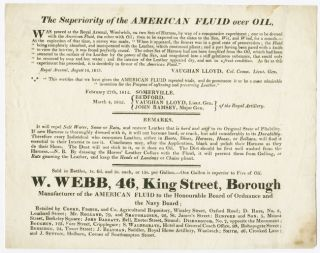 [PRINTED TRADE ADVERTISEMENT TESTIFYING TO THE SUPERIORITY OF AMERICAN FLUID OVER REGULAR OIL]....