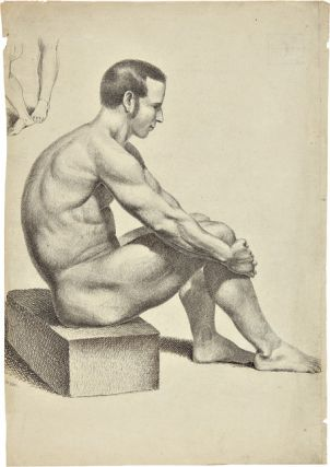 SIX PEN-AND-INK FIGURE STUDIES BY AUGUSTUS KOLLNER]. Augustus Kollner