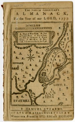 THE NORTH AMERICAN'S ALMANACK, FOR THE YEAR OF OUR LORD, 1777. Samuel Stearns