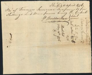 [AUTOGRAPH DOCUMENT, SIGNED BY OLIVER ELLSWORTH AND THOMAS SEYMOUR, AUTHORIZING PAYMENT TO THE FAIRFIELD MILITIA DURING THE FIRST MONTHS OF THE AMERICAN REVOLUTION].