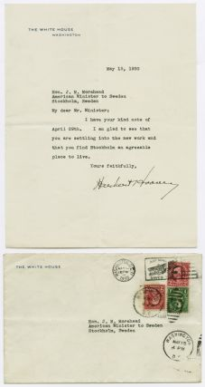 TYPED LETTER, SIGNED, FROM HERBERT HOOVER TO J.M. MOREHEAD, THE AMERICAN MINISTER TO SWEDEN]....
