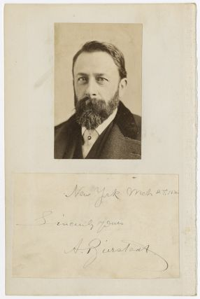 [PHOTOGRAPH OF ALBERT BIERSTADT, TOGETHER WITH A DATED AUTOGRAPH]. Albert Bierstadt.