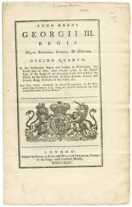 ANNO REGNI GEORGII III...AN ACT FOR FURTHER CONTINUING TWO ACTS, MADE IN THE SIXTH AND NINTH...