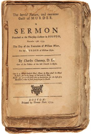 COLLECTION OF SIX SERMONS BY CHARLES CHAUNCY, STITCHED TOGETHER AT AN EARLY DATE]. Charles Chauncy