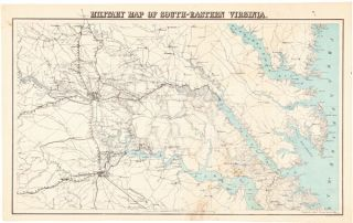 MILITARY MAP OF SOUTH-EASTERN VIRGINIA. Adolph Lindenkohl