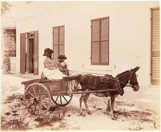 ALBUM OF THIRTY-ONE ALBUMEN PHOTOGRAPHS SHOWING SCENES IN BERMUDA AND ELSEWHERE]. Bermuda, N. E....