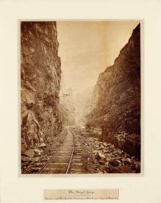 THE ROYAL GORGE (GRAND CANON OF THE ARKANSAS.) DENVER AND RIO GRANDE RAILWAY - THE SCENIC LINE OF...