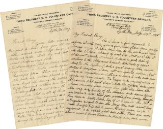 TWO LETTERS DESCRIBING LIFE AT CAMP THOMAS IN GEORGIA, STATIONED WITH THE THIRD U.S. VOLUNTEER...