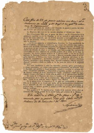 CON FECHA DE 25 DE JUNIO ULTIMO ME DICE EL SENOR SECRETARIO DE ESTADO Y DEL DESPACHO DE LA GOBERNACION DE ULTRAMAR LO SIGUIENTE [manuscript caption title for printed document]. Cuba.