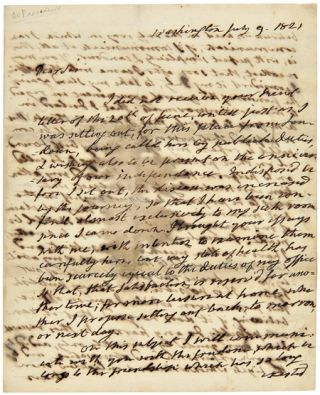 AUTOGRAPH LETTER, SIGNED, FROM PRESIDENT JAMES MONROE, REGARDING HIS OPPOSITION TO PUBLICLY...