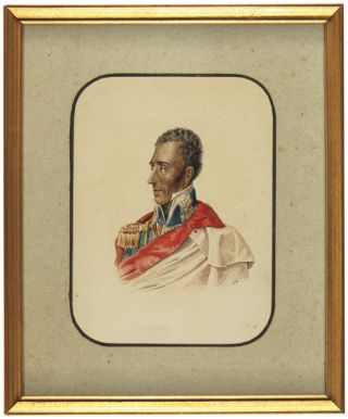 [WATERCOLOR OF GENERAL JEAN-PIERRE BOYER, PRESIDENT OF HAITI].