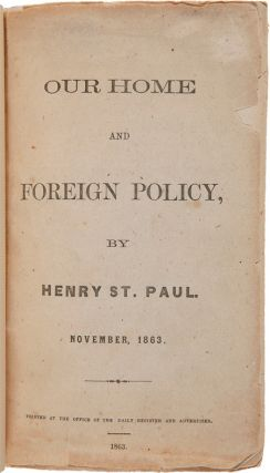 OUR HOME AND FOREIGN POLICY. NOVEMBER 1863.
