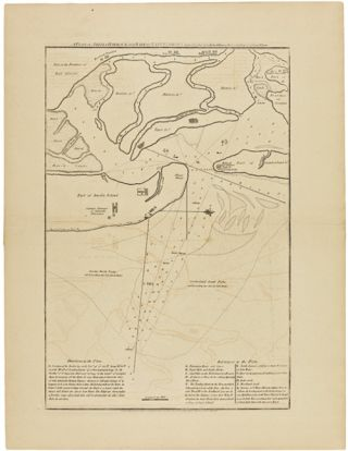 A PLAN OF AMELIA HARBOUR AND BARR IN EAST FLORIDA. Survey'd in Jany. 1775. By Jacob Blamey,...