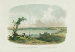 ENTRY TO THE BAY OF NEW-YORK TAKEN FROM STATEN ISLAND. Karl Bodmer