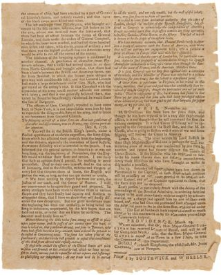 AMERICAN JOURNAL EXTRAORDINARY. FRIDAY, MARCH 19, 1779 [caption title].