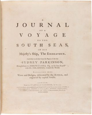 A JOURNAL OF A VOYAGE TO THE SOUTH SEAS, IN HIS MAJESTY'S SHIP, THE ENDEAVOUR....