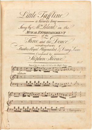 A BOUND COLLECTION OF TWENTY EARLY 19th-CENTURY AMERICAN MUSIC SHEETS]. Thomas Jefferson, Early...
