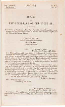 REPORT OF THE SECRETARY OF THE INTERIOR...IN RELATION TO THE OPERATIONS OF THE COMMISSION FOR...
