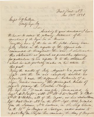 AUTOGRAPH LETTER, SIGNED, FROM GEORGE McCLELLAN TO CAPT. GEORGE WASHINGTON CULLUM, ABOUT HIS...