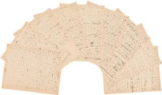 "AUTOGRAPH MANUSCRIPT, SIGNED OF HARTE'S ACCOUNT OF THE CALIFORNIA GOLD RUSH, ""MY EXPERIENCES AS A..."
