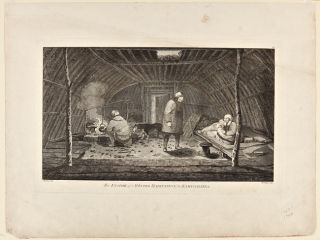 THE INSIDE OF A WINTER HABITATION IN KAMTSCHATKA. Cook's Third Voyage