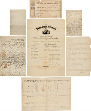 "MANUSCRIPT ARCHIVE OF UNION CAPTAIN JAMES COOKE, COMPANY ""F,"" 52nd PENNSYLVANIA INFANTRY,..."