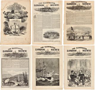 COLLECTION OF ORIGINAL LEAVES OF The Illustrated London News REGARDING CANADA, ALASKA, AND...