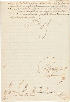 [AN EXCEPTIONAL LETTER, SIGNED, BY KING PHILIP IV TO THE VICEROY OF NEW SPAIN, WITH REFERENCE TO THE THREATENED REVOLT OF THE INDIANS OF SINALOA AND NUEVA VIZCAYA DURING THE COMMANDING OFFICER'S ABSENCE IN CALIFORNIA].