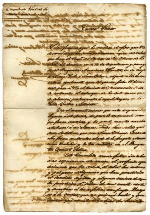 DOCUMENT REGARDING THE SHIPWRECK OF A VESSEL TRAVELLING FROM NEW YORK TO NEW ORLEANS]. American...