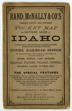 RAND, McNALLY & CO.'S INDEXED COUNTY AND TOWNSHIP POCKET MAP AND SHIPPERS' GUIDE OF IDAHO. ...