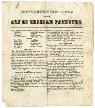 COMPLETE DIRECTIONS OF THE ART OF GRECIAN PAINTING. American Art