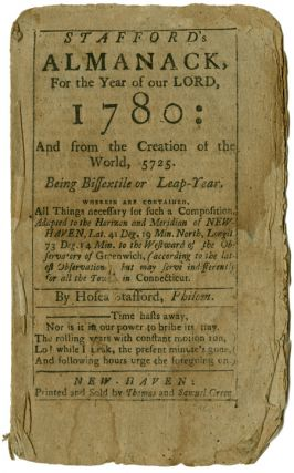 STAFFORD'S ALMANACK, FOR THE YEAR OF OUR LORD 1780: AND FROM THE CREATION OF THE WORLD, 5725....