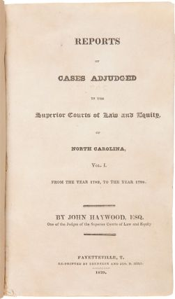 REPORTS OF CASES ADJUDGED IN THE SUPERIOR COURTS OF LAW AND EQUITY...VOL. I[-II]....