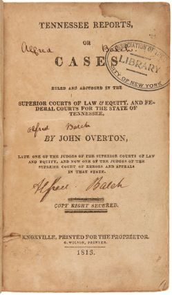 [FIVE VOLUMES OF REPORTS ON VARIOUS LAW CASES FROM 1794 TO 1817 IN THE STATE OF TENNESSEE].