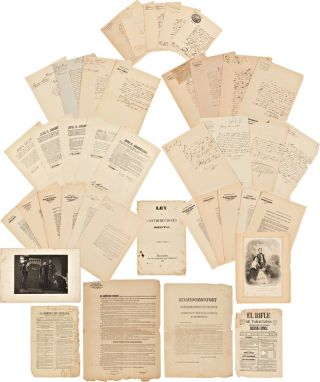COLLECTION OF PROCLAMATIONS AND DOCUMENTS FROM NUEVO LEÓN IN THE MID-19th CENTURY]. Mexico,...